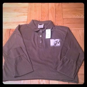 Tops - MTV Logo Cropped Long Sleeve Top - Size S